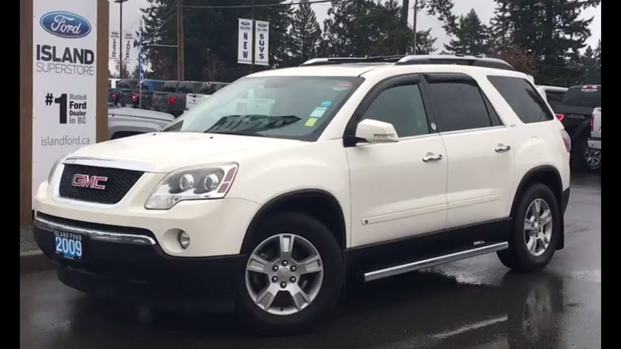2009 Gmc Acadia Slt W Leather 7 Passenger Awd Review Island