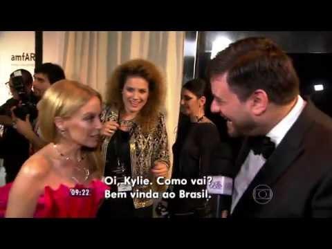 Kylie Minogue amFar Gala 2015 São Paulo - Entrevista