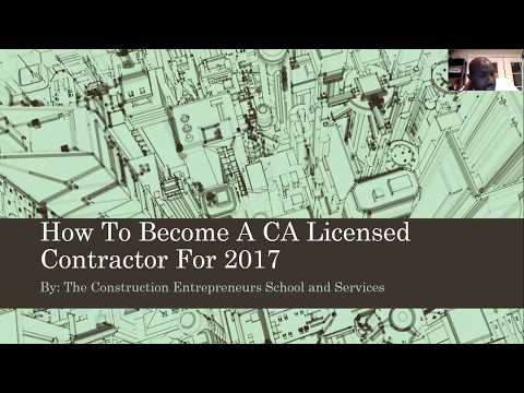 How To Get Your CA Contractors License for 2018