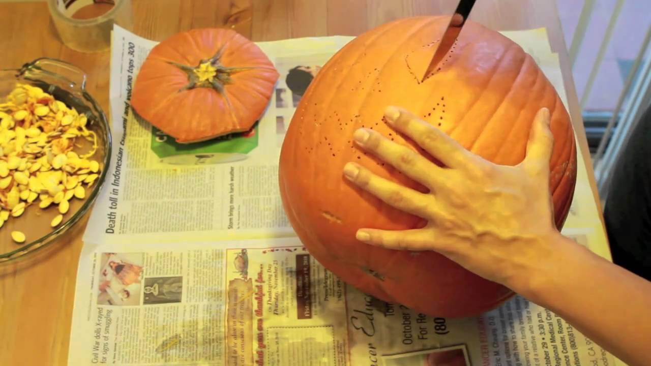 how to make halloween pumpkins - youtube