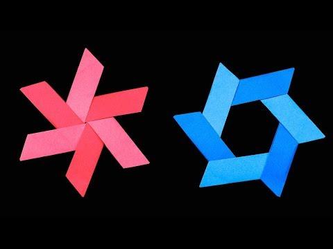 New Easy Origami Paper Ninja star 6 Points