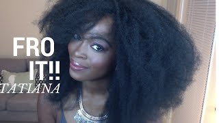 Big FRO in minutes  with the Tatiana Wig (4C Natural hair): Under $25
