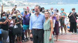 Los Reyes inician su gira nacional visitando Gran Canaria