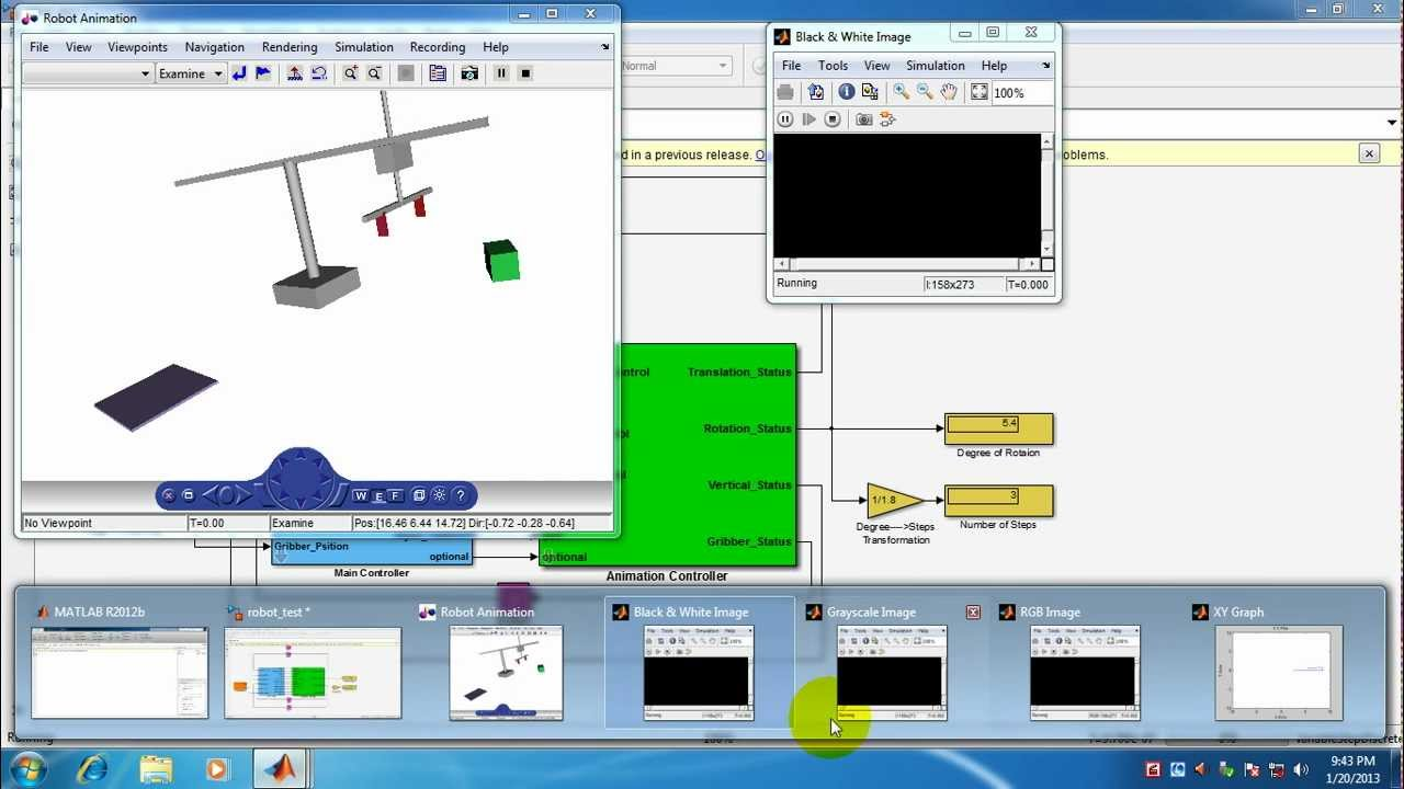 robot control simulation animation with feedback image rh youtube com