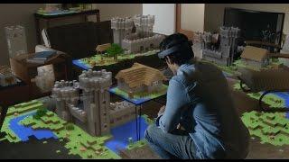 Xbox One HoloLens Demo @ E3 2015 (Minecraft) TRUE-HD QUALITY