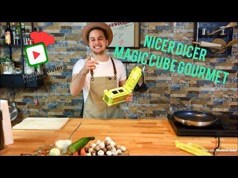 Nicer Dicer Magic Cube Gourmet Test | Vegetarische Vorspeise | Mattia Riviera