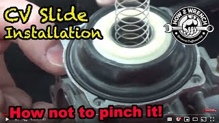 08 How to install a CV carburetor slide without pinching it. Theory of operation and testing too!