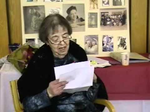 Sylvia Ann Feigenbaum's Speach at her 85th Birthda...