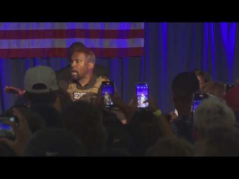 Kanye West holds campaign rally in North Charleston