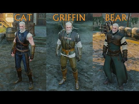 Witcher 3. Cat Vs Griffin Vs Bear. Basic Armor Set Comparison
