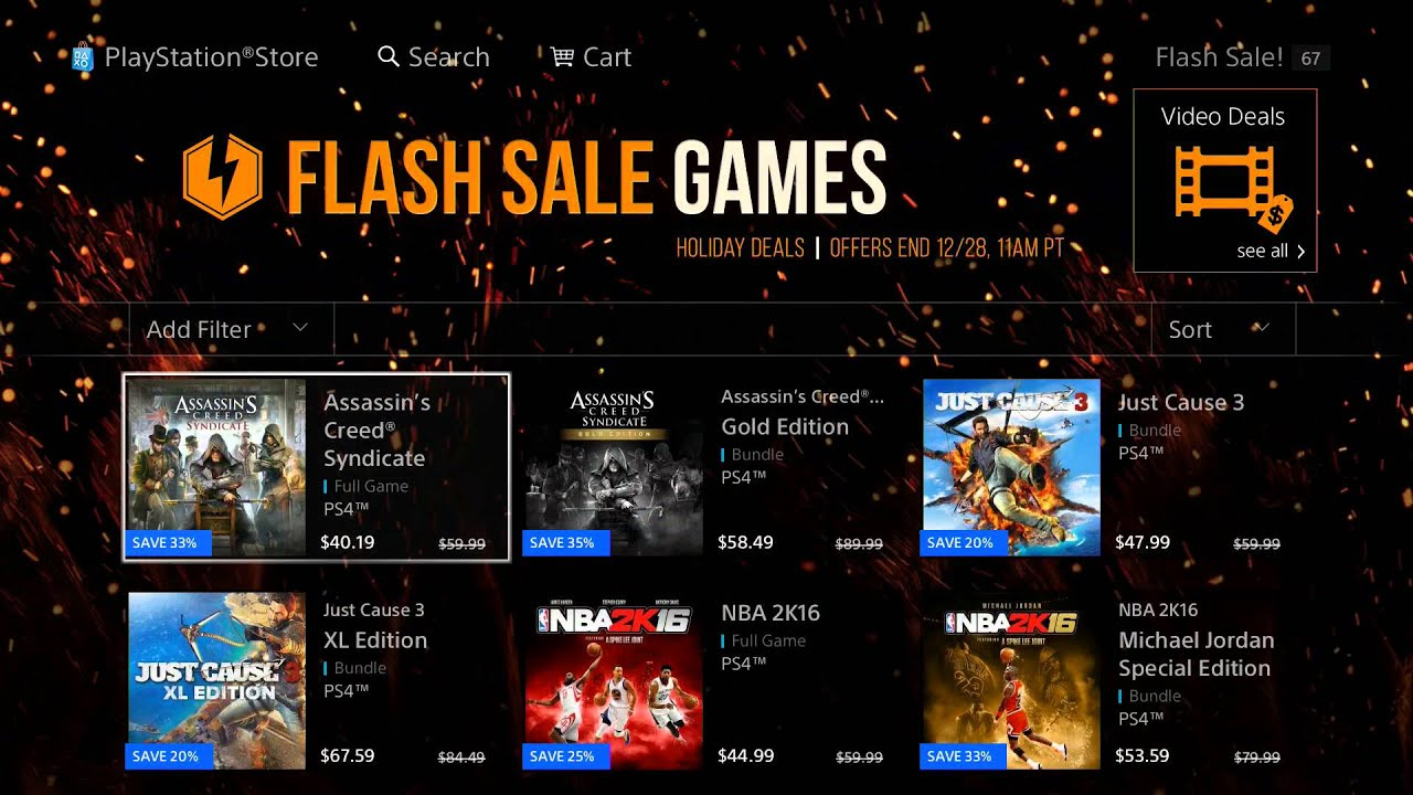 ps4 christmas psn flash sale 2015 triple a games discounted deals - Christmas Deals 2015