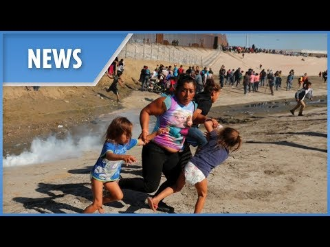 US reopens border after clashes with migrants