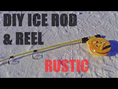 DIY Homemade Ice Fishing Rod And Reel Out Of WOOD [2018]