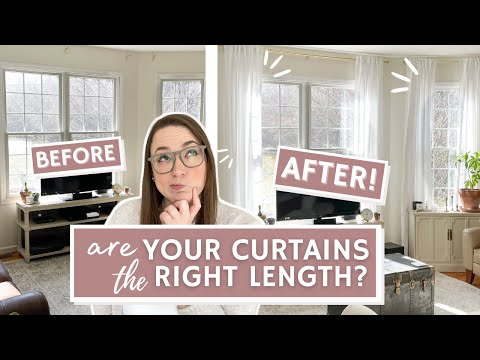 How To Choose A CURTAIN LENGTH and the Importance of Window Drapery Size