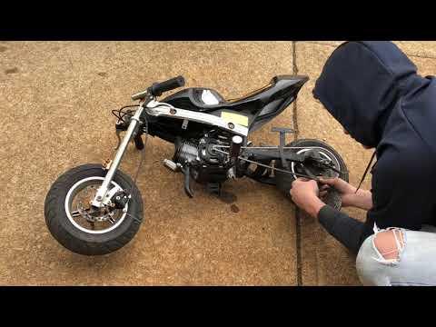 49cc pocket bike custom mods