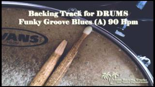 Funky Groove Blues 90 Bpm for DRUMS (NO DRUMS)