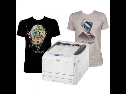 1330a787 OKI Pro8432WT Digital Transfer T-Shirt Printer - YouTube