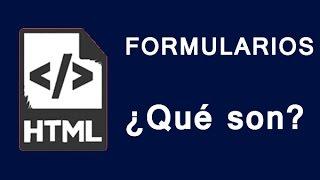 Formularios HTML | ¿Qué son?