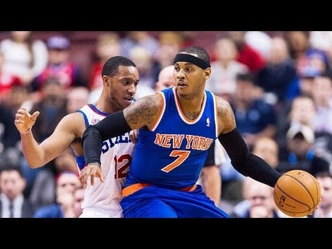 Carmelo Anthony post up moves and fadeaway 2013