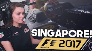 MAX VERSTAPPEN OP PODIUM!  F1 2017 SINGAPORE MARINA BAY! (Formule 1: 2017 )