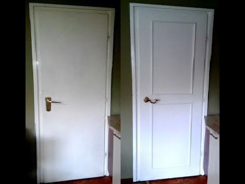 Dressing up and repair an old plain door & Dressing up and repair an old plain door - YouTube