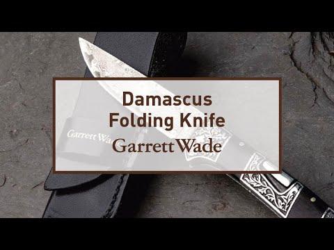 Damascus Blade Folding Knife