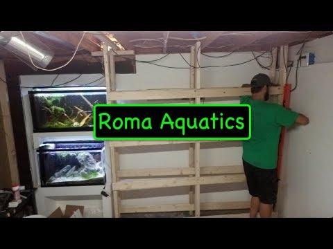 How To Build A  DIY Wood Rack For 8 20 Gallon Long Fish / Shrimp Tanks - RomaAquatics.com 🆒