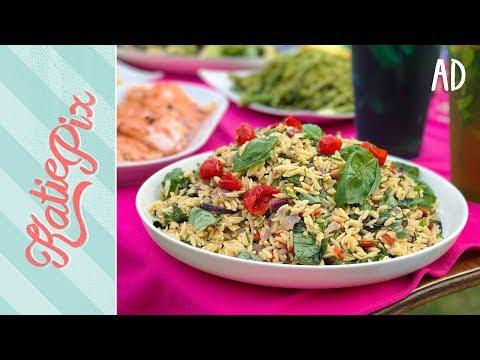 Perfect Pasta Salad Recipe with Saucy Salmon | Katie Pix