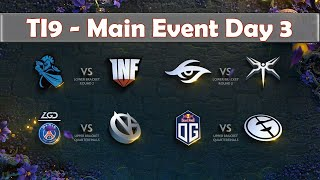 OG vs EG | The International 2019 | Dota 2 TI9 LIVE | Upper Bracket | Main Event Day 3