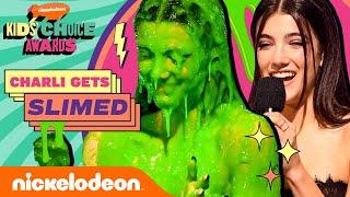 Charli D'Amelio Gets SLIMED After Winning 'Favorite Female Social Star'   Kids' Choice Awards 2021