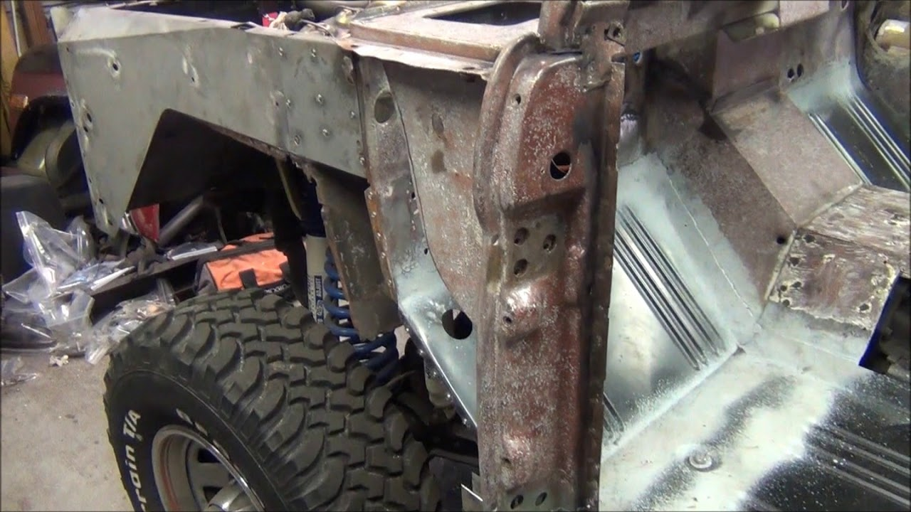 1973 Early Bronco Project Part 37 Drivers Side Kick Panel Repair Youtube