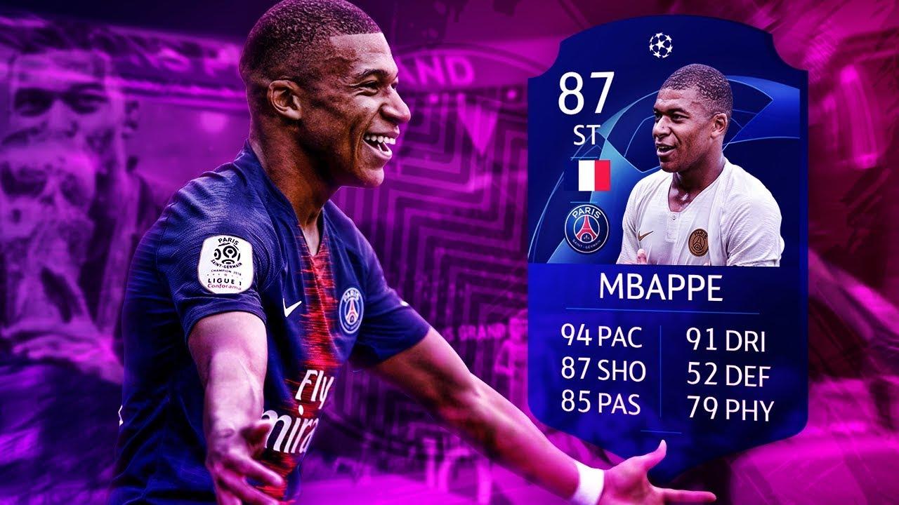 FIFA 19 THUMBNAIL SPEEDART #1: KYLIAN MBAPPÉ CHAMPIONS LEAGUE CARD MOTM OFFICIAL DESIGN FIFA 19 UCL