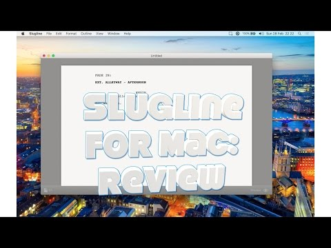 Video reviews of MacOS app and tips & tricks celtx script
