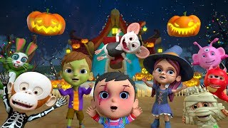 Ten Little Monsters | Halloween Songs for Children | Kindergarten Cartoons by Little Treehouse