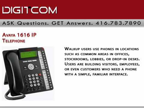 Avaya 1616 IP Telephone Digitcom.ca Business Phone Systems