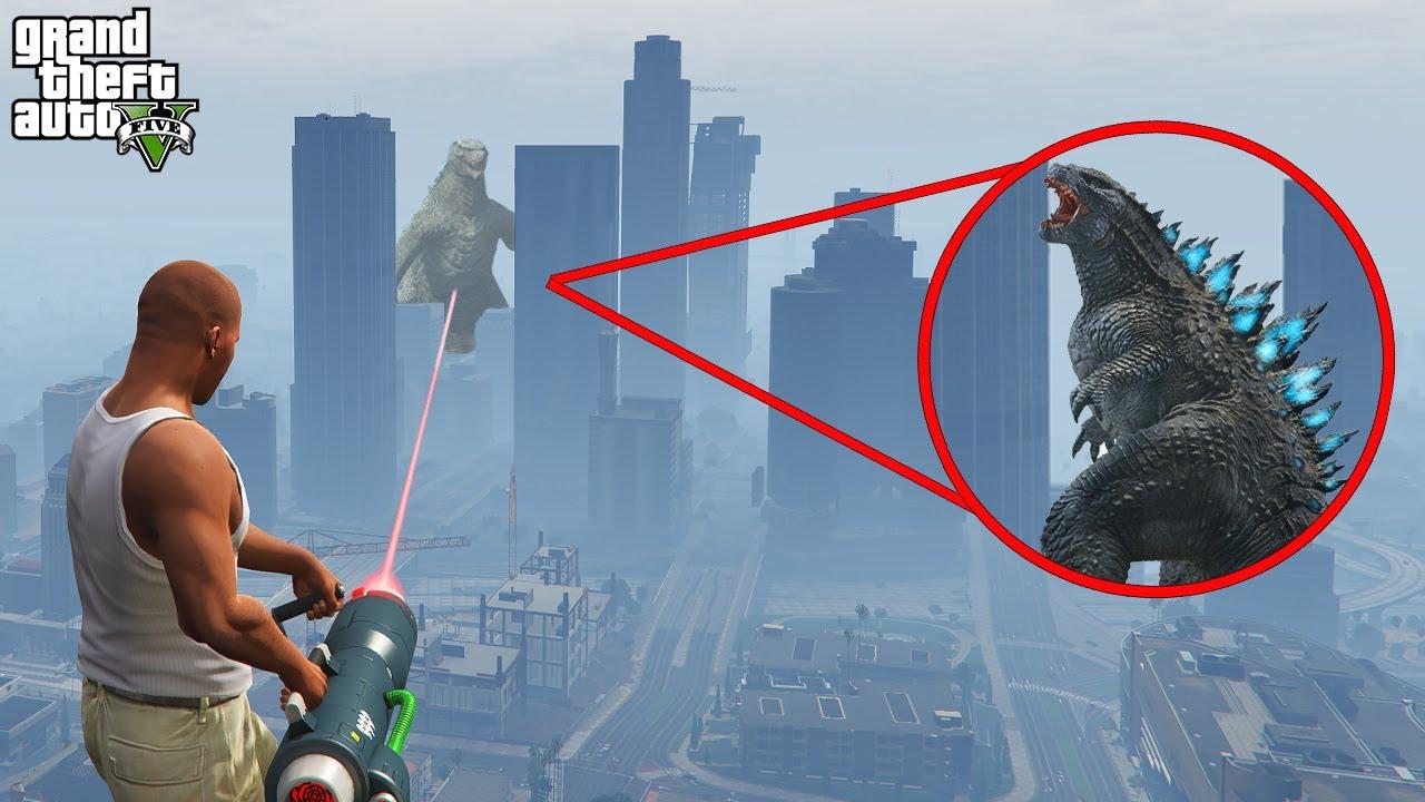 I Found Godzilla on GTA 5 (Grand Theft Auto V)