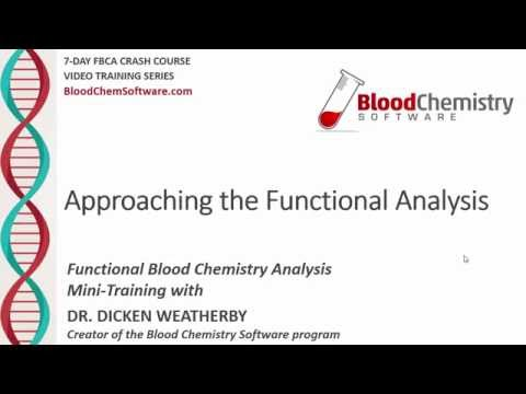 Approaching the Functional Analysis of Blood Tests