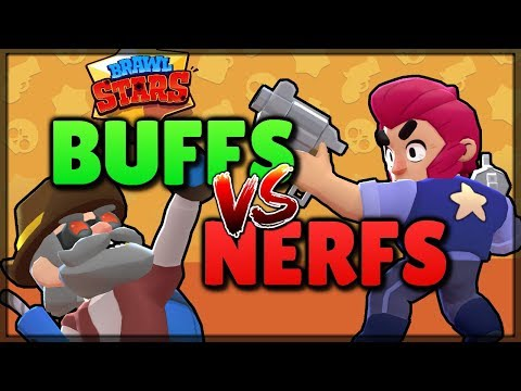 BUFFS vs NERFS - Who Will Win? Brawl Stars Battle! Balance Changes 2018!