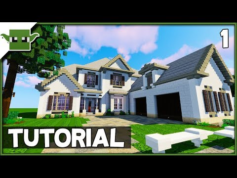 Minecraft 6-Bed Mansion Tutorial - Ep1 (How to Build a House in Minecraft)