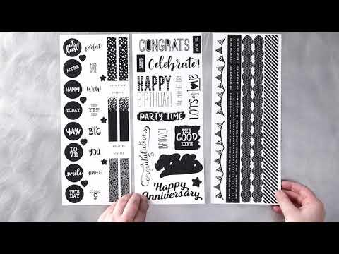 Black & White Stickers   Creative Memories Australia