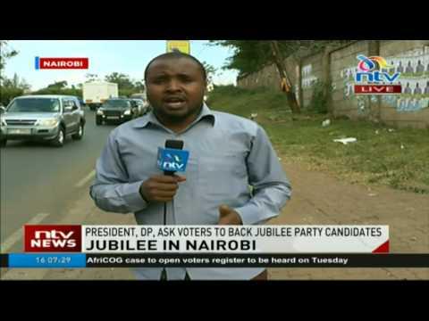 Jubilee campaigns in Nairobi