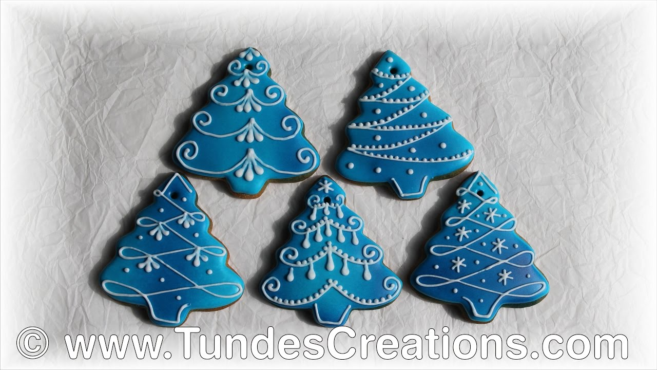 blue christmas tree gingerbread christmas ornaments - Blue Christmas Ornaments