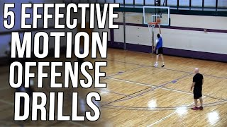 Motion Offense Drill: Teaching Effective Cuts and Movements At Beginning of Season