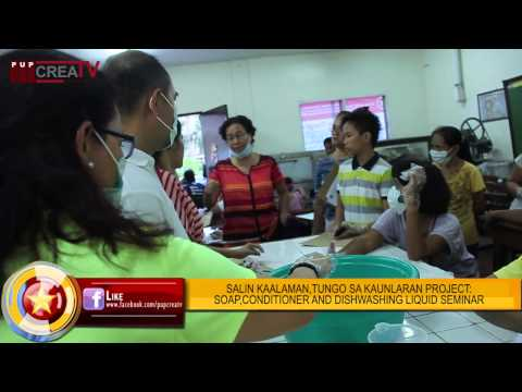 The Observer Flash Online:Soap,Dishwashing Liquid, and Conditioner Making Seminar