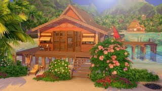 STUNNING BEACH HOUSE RENOVATION IN THE SIMS 4: ISLAND LIVING