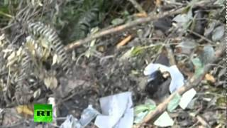 Sukhoi Superjet 100 crash site: Close-up footage of debris