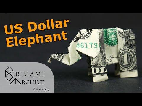 Dollar Origami Elephant