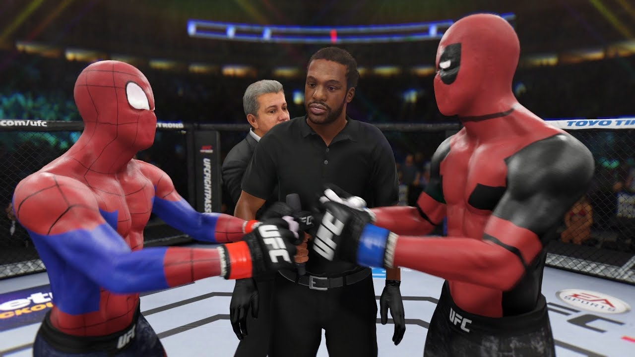 ЧЕЛОВЕК-ПАУК vs ДЭДПУЛ БОЙ в UFC 3 / Spiderman vs Deadpool