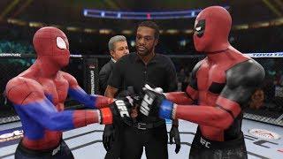 ЧЕЛОВЕК-ПАУК vs ДЭДПУЛ БОЙ в UFC 3 / Spiderman vs Deadpool