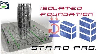Staad Foundation Tutorial(Isolated Footing Design)